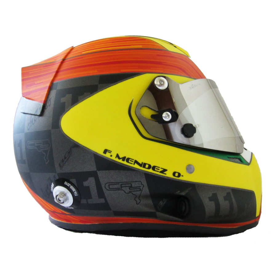 helmet, casco, stilo, str4, formula, chezito, fernando mendez, chesito, arai, bell, omp, hans, wing, casco, aleron, mica, chome, mate, yellow, orange, black, grey, mexico, fast, racing, touring car