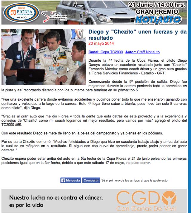 Nota TC2000 4ta fecha 2014